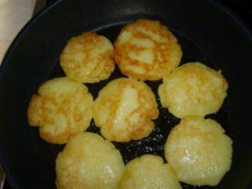 Knusprig gebratene Kloßplätzchen - Rezept