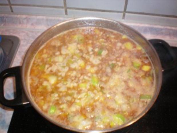 Käse-Suppe mit Lauch und Hack - Rezept - Bild Nr. 6