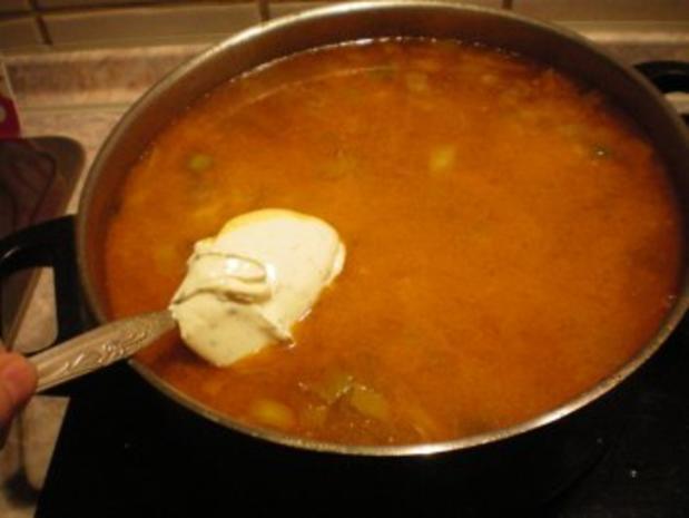 Käse-Suppe mit Lauch und Hack - Rezept - Bild Nr. 8