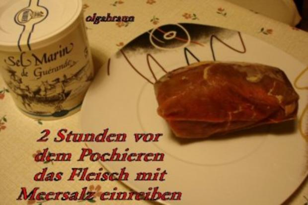 Pochiertes Rinderfilet mit Olga´s Traum-Sauce - Rezept - Bild Nr. 2