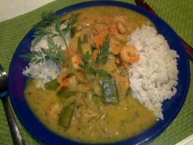 Curry-Shrimps-Pfanne - Rezept