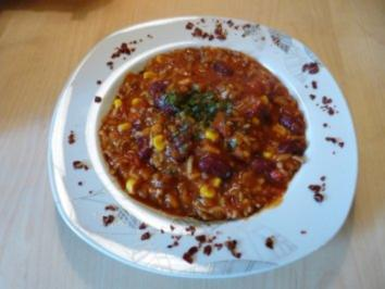 """Chili con Carne - Wo man(n) fragt:""""kann ich noch einen Teller..?"""" - Rezept"""