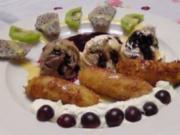 knusprige Honigbanane an Eis - Rezept