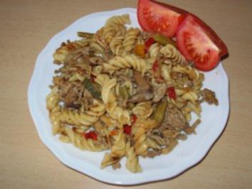 Rezept: Nudelpfanne auf Italienische-Art