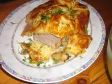 Filet mit Champignons in einem Käse-Blätterteigmantel - Rezept