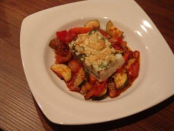 Seelachsfilet mit Mandel-Parmesan-Kruste - Rezept