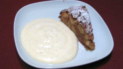 Apfelkuchen an warmem Vanilleschaum - Rezept