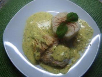 Rezept: Kabeljaufilet mit Senf-Currysoße