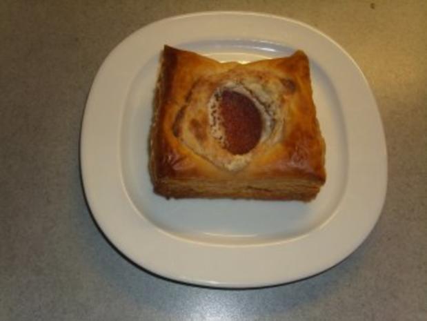 Pikante Kuchen: Blätterteig mit Nusskäse und Salami - Rezept