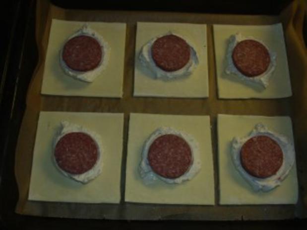 Pikante Kuchen: Blätterteig mit Nusskäse und Salami - Rezept - Bild Nr. 3