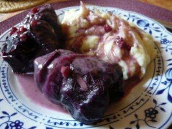 Hackfleisch im Blaukrautmantel - Rezept