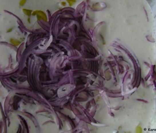 Fisch: Matjes Dill Töpfchen mit roten Zwiebeln - Rezept - Bild Nr. 2