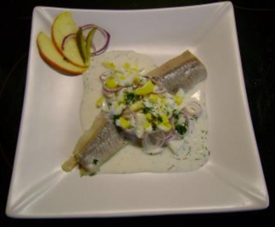 Fisch: Matjes Dill Töpfchen mit roten Zwiebeln - Rezept - Bild Nr. 6