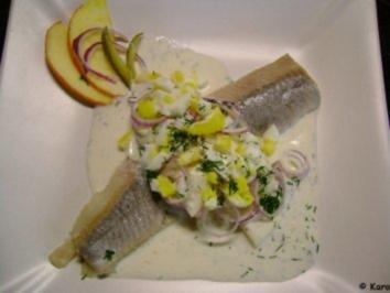 Fisch: Matjes Dill Töpfchen mit roten Zwiebeln - Rezept