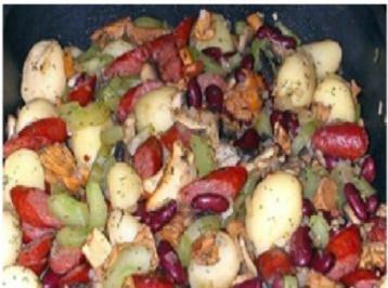 Schmorgurken Pilz Pfanne - Rezept