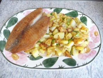 Rezept: Fisch : Tilapia mit Bratkartoffeln