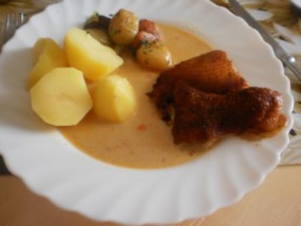 Entenbraten mit Zwiebeln im Bratschlauch - Rezept
