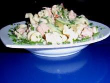 Nudelsalat mit Thunfisch und grünem Spargel - Rezept