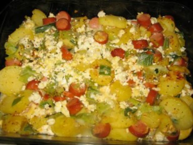Kartoffelauflauf mit Feta - Rezept