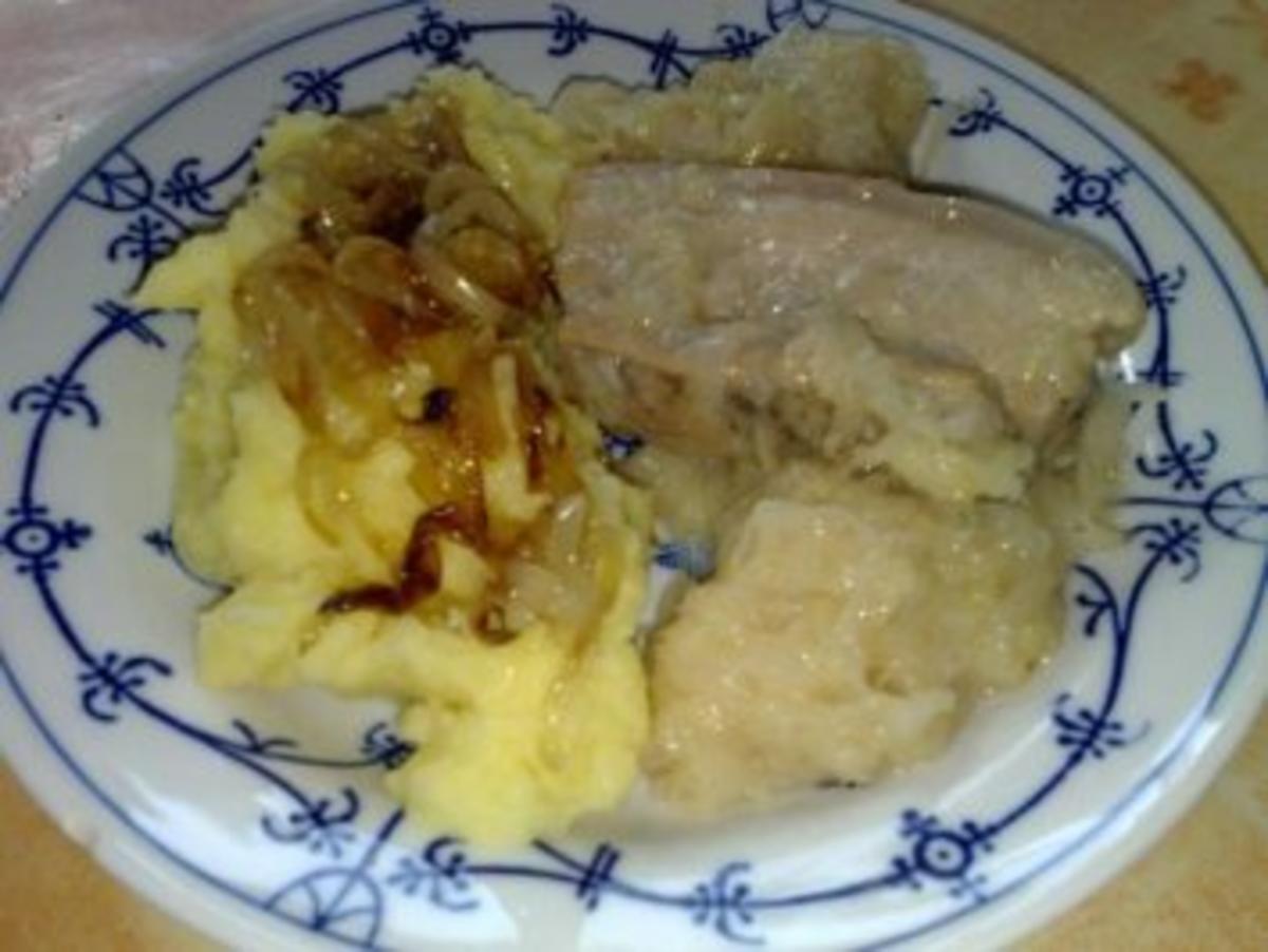 Sauerkraut Bauchfleisch Stampfkartoffeln Zwiebeln - Rezept Gesendet von hsk2310