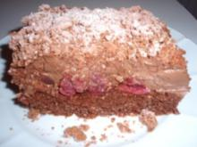 Torte: Kirsch-Flockenschnitten - After Eight - Rezept