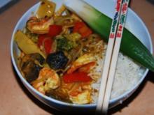 Gaeng Ped Gung - Rotes Thai-Curry mit Garnelen - Rezept