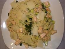 Spaghetti mit Lachs-Zucchini-Sahnesauce - Rezept