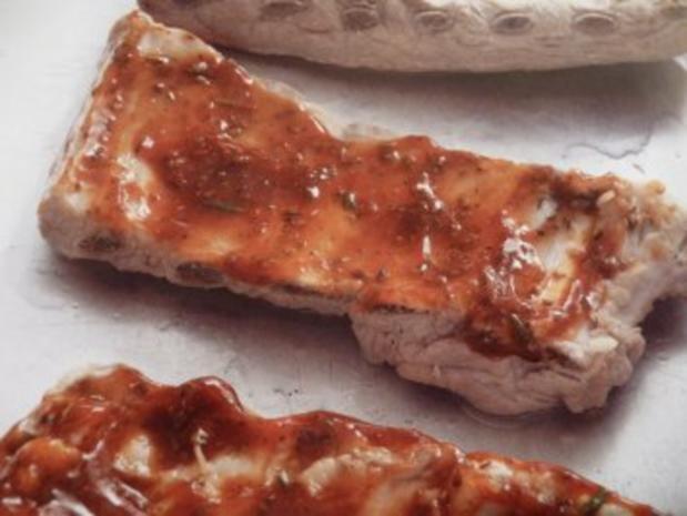 Spareribs mit BBQ- Sauce glasiert - Rezept - Bild Nr. 3