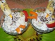 Irenes Obst- Dessert- mit Pfefferminzschokolade - Rezept