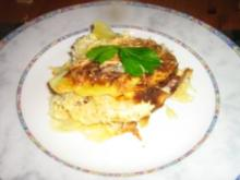 Kartoffel-Sauerkraut-Gratin mit Cabanossi - Rezept