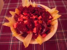 Rosa Roter Beete Salat - Rezept