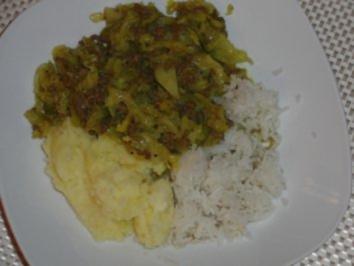 Rinderhack mit herzlichen Wirsingkohl auf Curry - Rezept