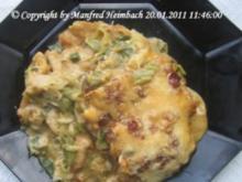 Fleisch – gratiniertes Kassler auf Toast unter einer Rahmlauchhaube - Rezept