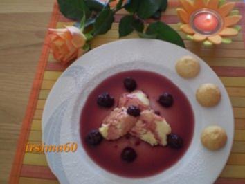 Weißes Schoko - Mousse mit Amaretto und Amarenakirschen - Rezept