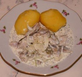 Matjes-Filet mit Pellkartoffeln - Rezept