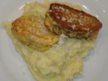 Piccata vom Tafelspitz in Meerrettichkruste auf Wirsing-Kartoffelpürree - Rezept