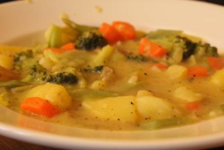 Gemüseeintopf in Senfsauce - Rezept