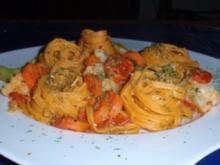 Buntes Gemüse mit Chilitagliatelle - Rezept