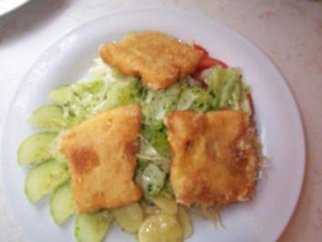 Gebackener Emmentaler auf Salatbett - Rezept