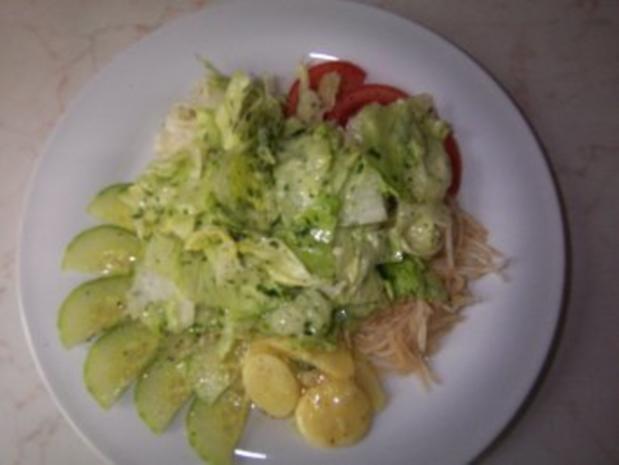 Gebackener Emmentaler auf Salatbett - Rezept - Bild Nr. 3