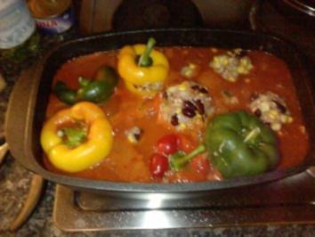 Paprika gefüllt Fiesta Mexicana - Rezept