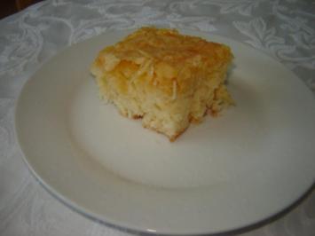 Zuckerkuchen mit Mandelkruste - Rezept