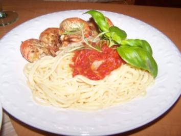 Spaghetti mit Garnelen - Rezept