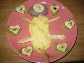 1. Teller Pudding und Kinder sind zufrieden - Rezept
