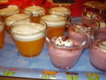 Preiselbeercreme und Pfirsich-Mandarinencreme - Rezept