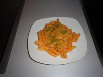 Sahne - Käse - Nudeln - Rezept