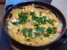Aufläufe : Mein Kartoffelauflauf mit Wurstkraken - Rezept