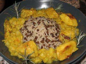 """๑۩ Hähnchenbrust """"Indische Art"""" mit Linsen-Reis  ۩๑ - Rezept"""