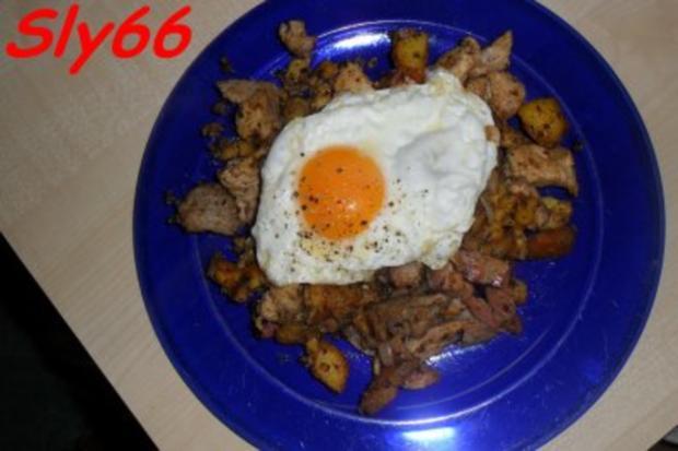 Pfannengerichte:Gröstl aus dem Wok - Rezept