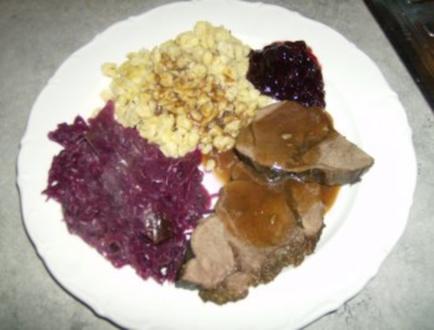 Hirschbraten - Rezept